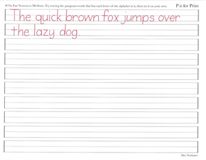 Picture of Lesson 19 Fun Sentence Pangrams